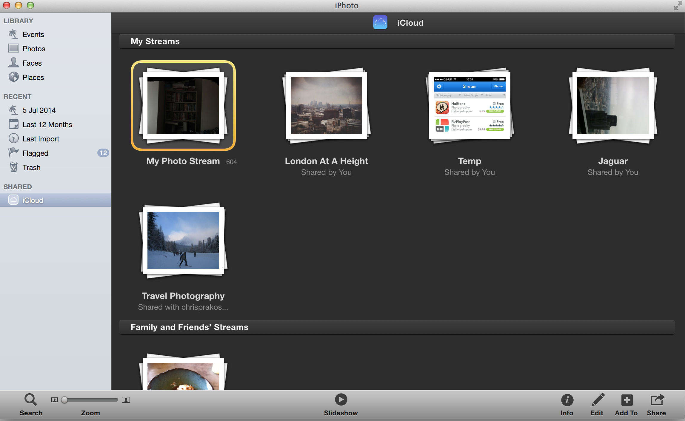 Add photostream to icloud