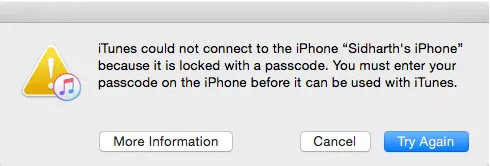 itunes can not connect with iphone