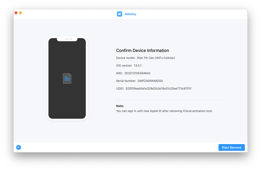 confirm device info - 4MeKey guide