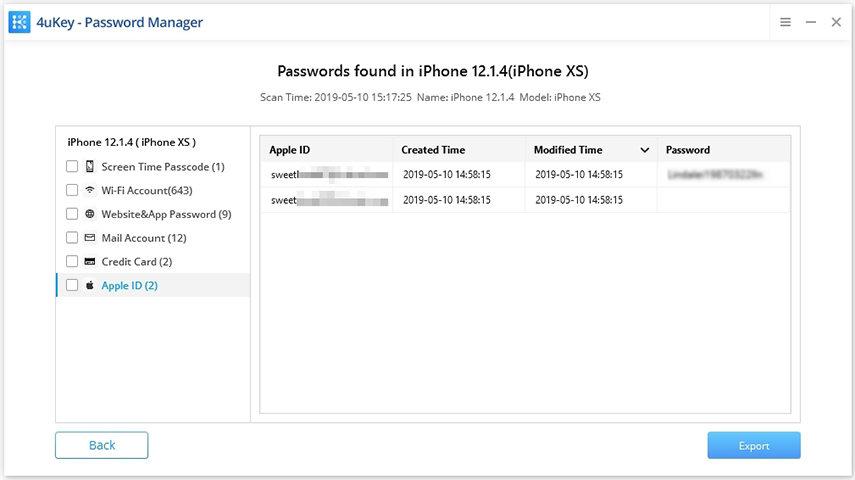 apple id - 4ukey password manager