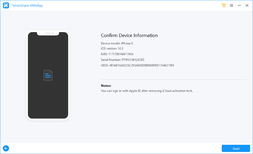how to bypass apple activation lock – device info