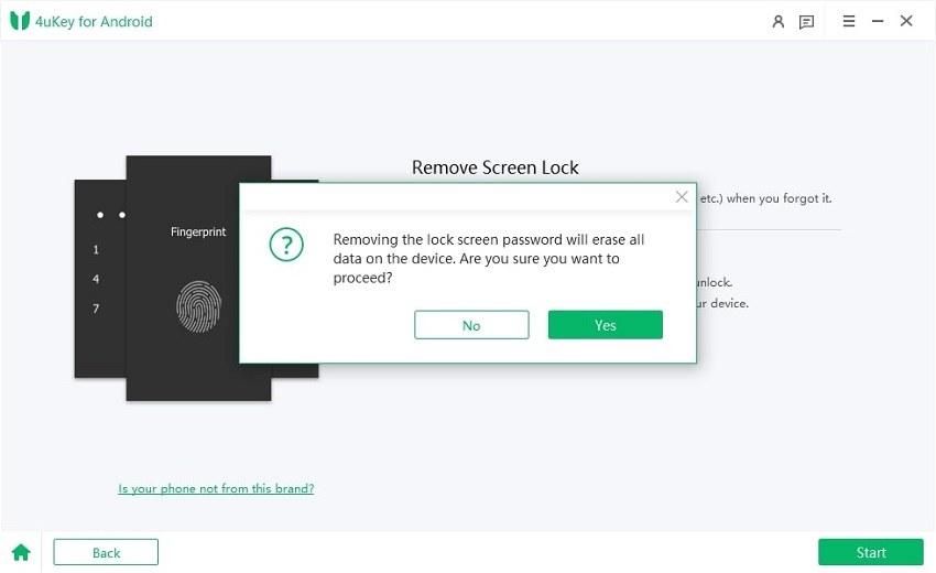 confirm to unlock screen