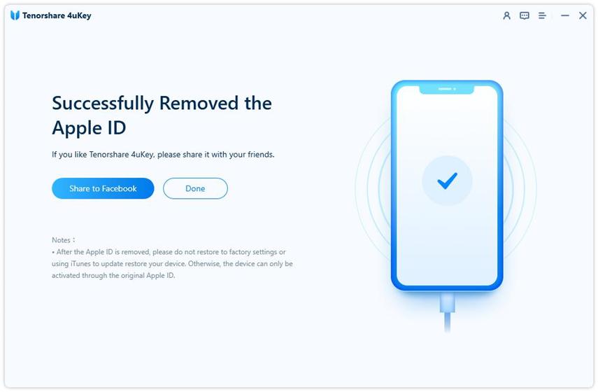 unlock apple id successfully - 4uKey guide