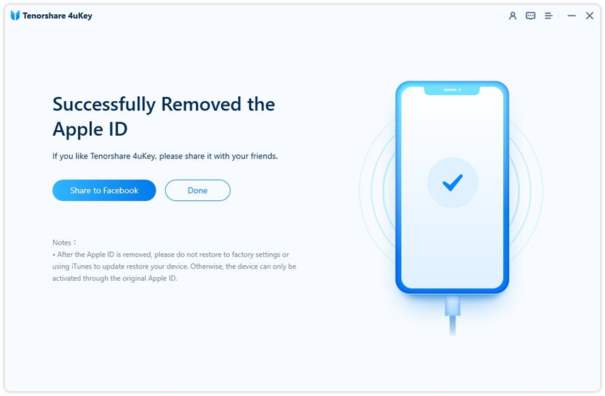remove apple id successfully - 4uKey guide