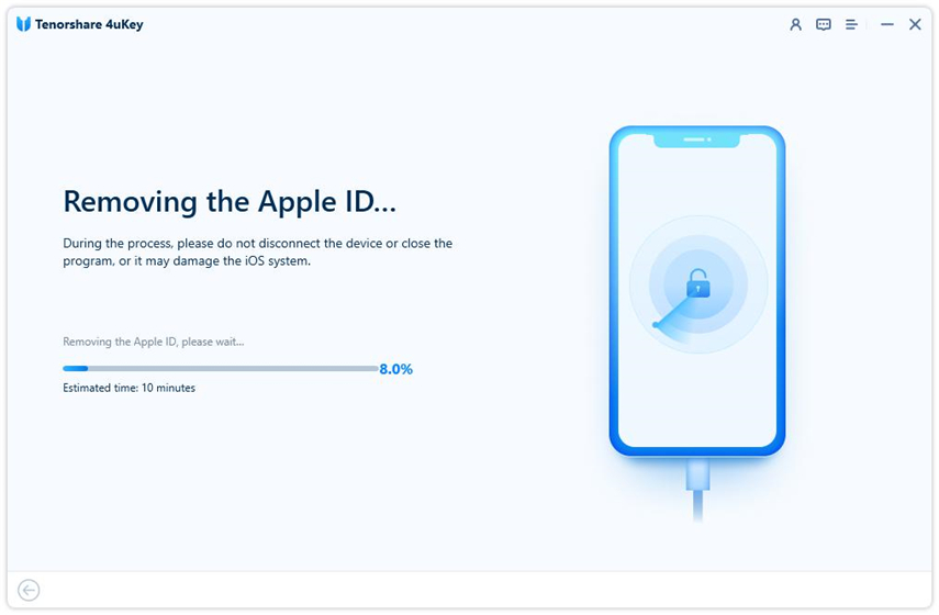 unlock apple id when find my iPhone is off - 4uKey