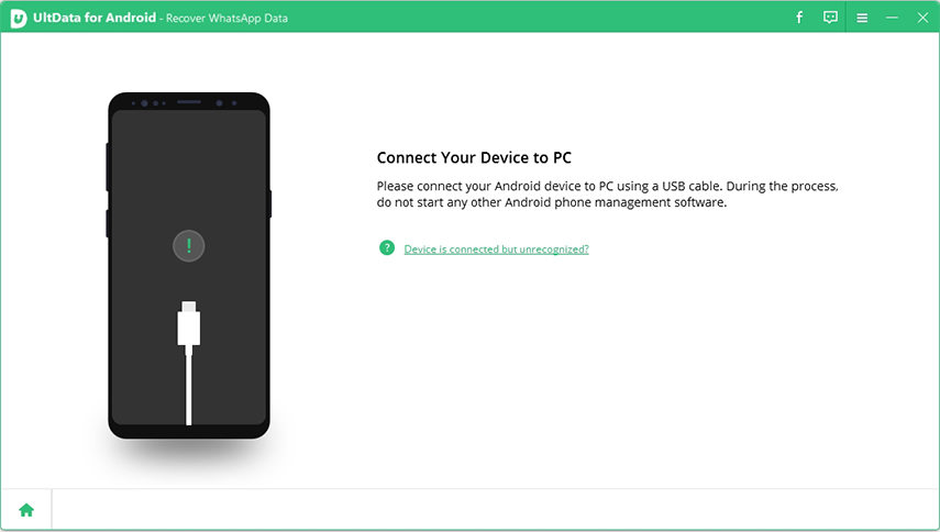 prompt to connect device by ultdata for android