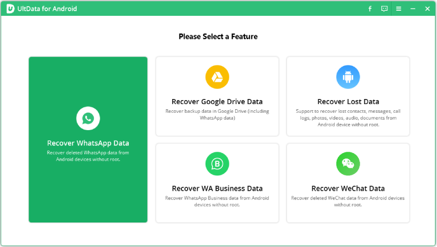 choose recover hatsapp data feature