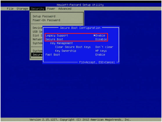 hewlett packard bios security - Windows Boot Genius guide