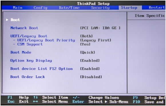 thinkpad bios - Windows Boot Genius guide