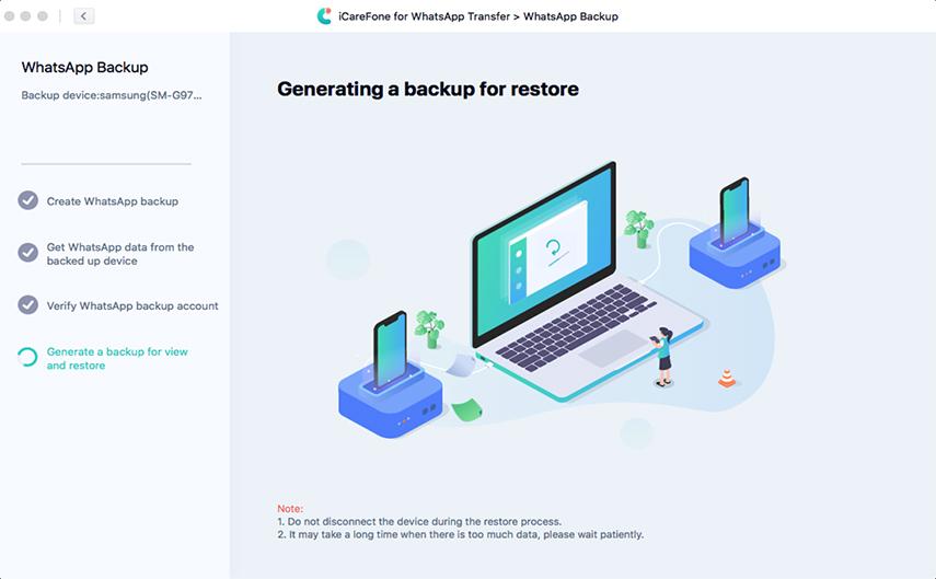 generating whatsapp backup file