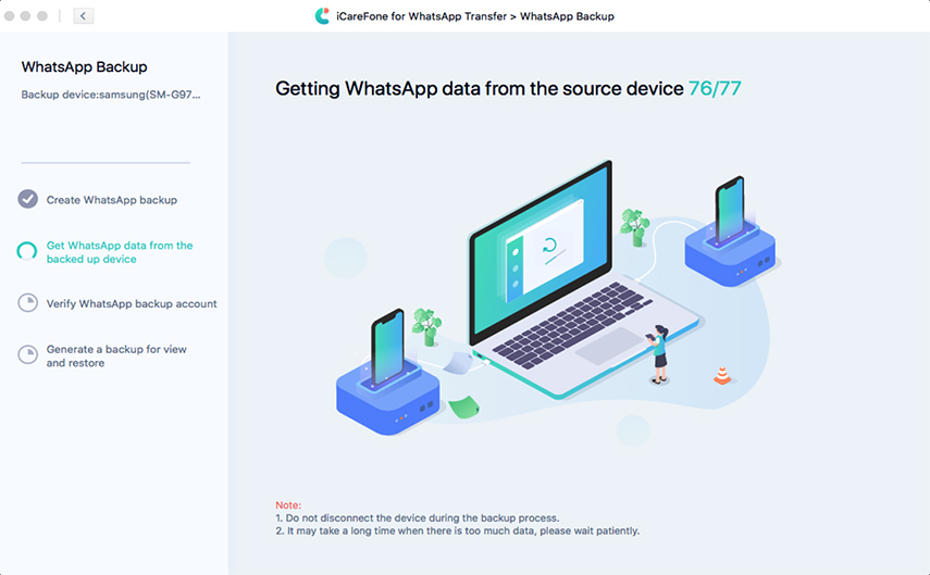 get whatsapp backup file on android