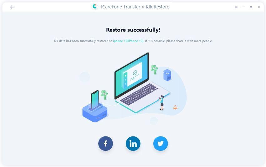 restore kik data successfully- guide