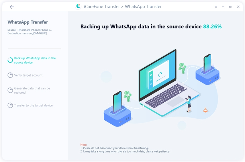 backing up whatsapp data now