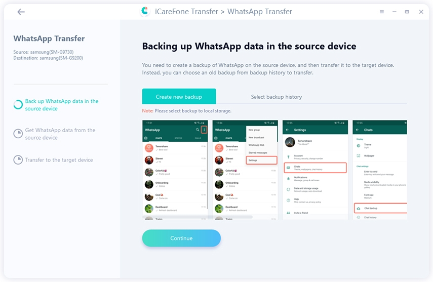 enable USB Debugging for whatsapp transfer guide