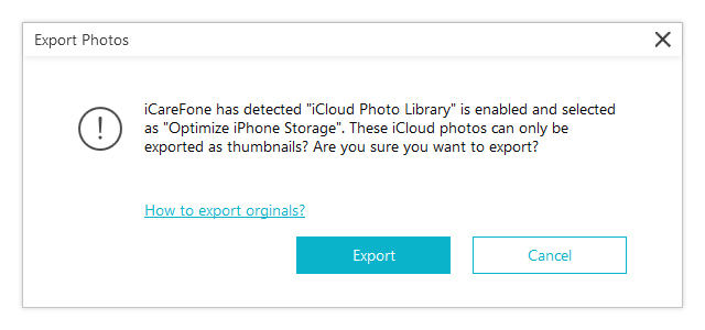 export icloud photo library