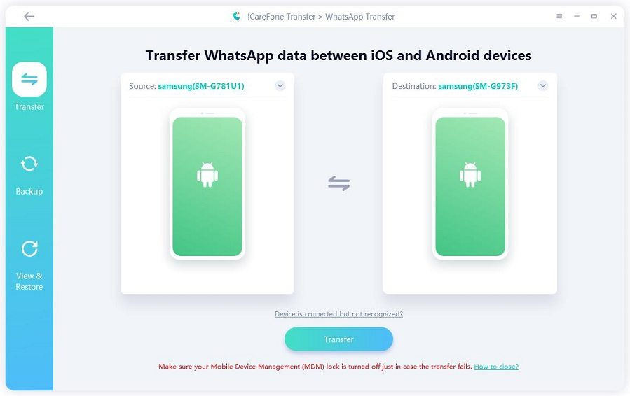 whatsapp transfer between two android devices guide
