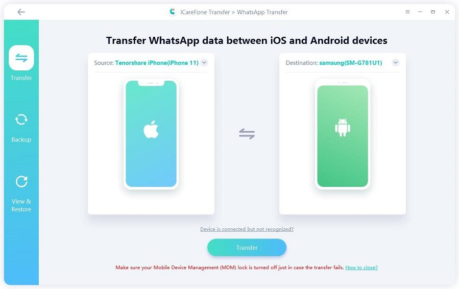 transfer from iphone to android