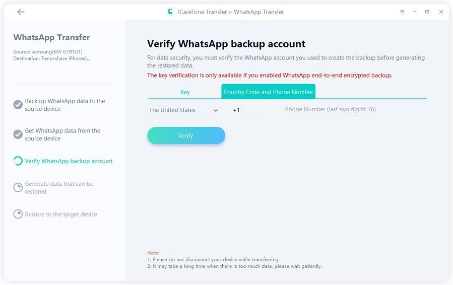 verify whatsapp account