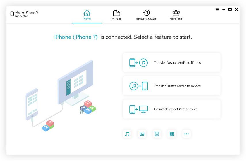 main interface icarefone