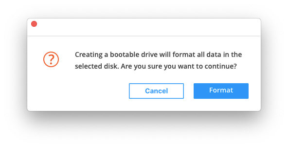 creating a bootable drive reminder - ultdata mac data recovery