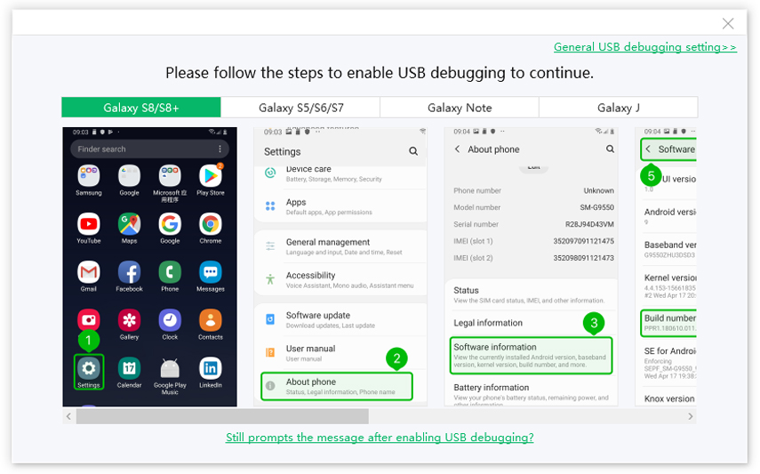 Tenorshare ReiBoot for Android for guiding samsung usb debugging