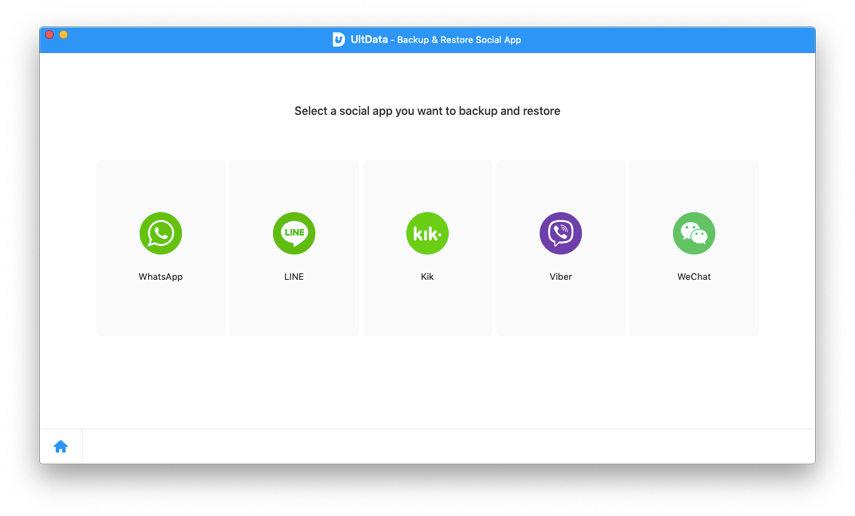select a social app