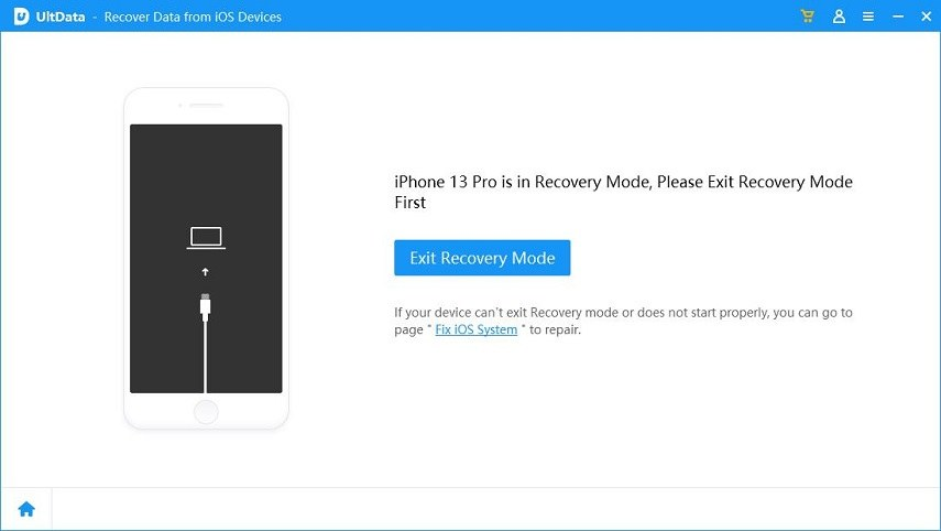 get iphone out of recovery mode using UltData