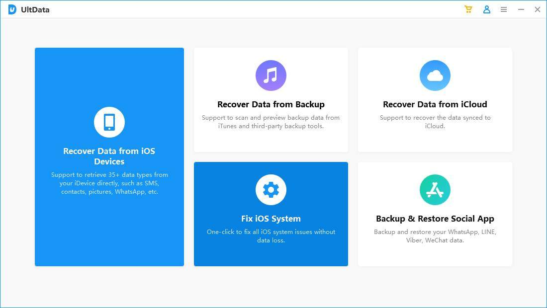 fix ios system with UltData
