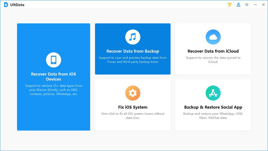 recover data from iTunes backup - UltData guide