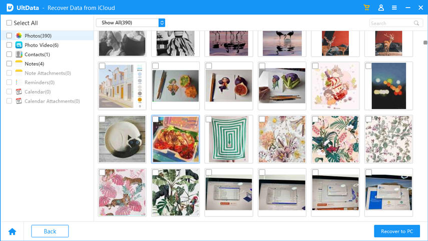 preview photos from icloud
