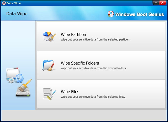 wipe partition