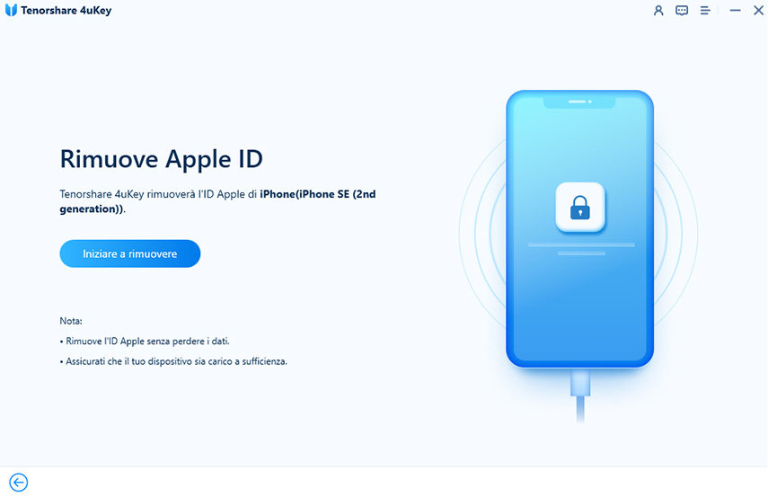 avvia sblocco ID Apple