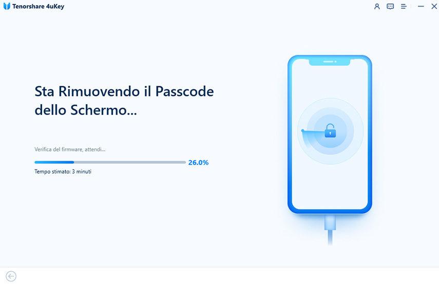 riuovendo password schermo