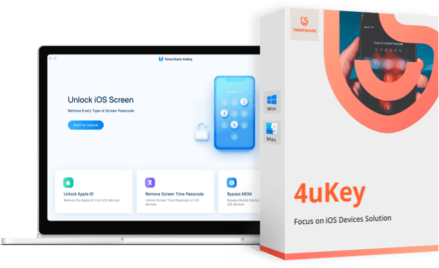 4uKey iPhone passcode unlocker box