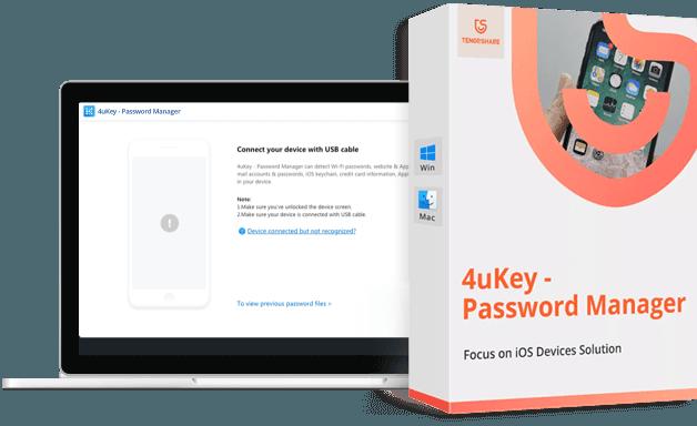 Tenorshare 4uKey - iOS Password Manager manage passwords iphone