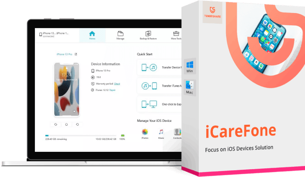 icarefone product box