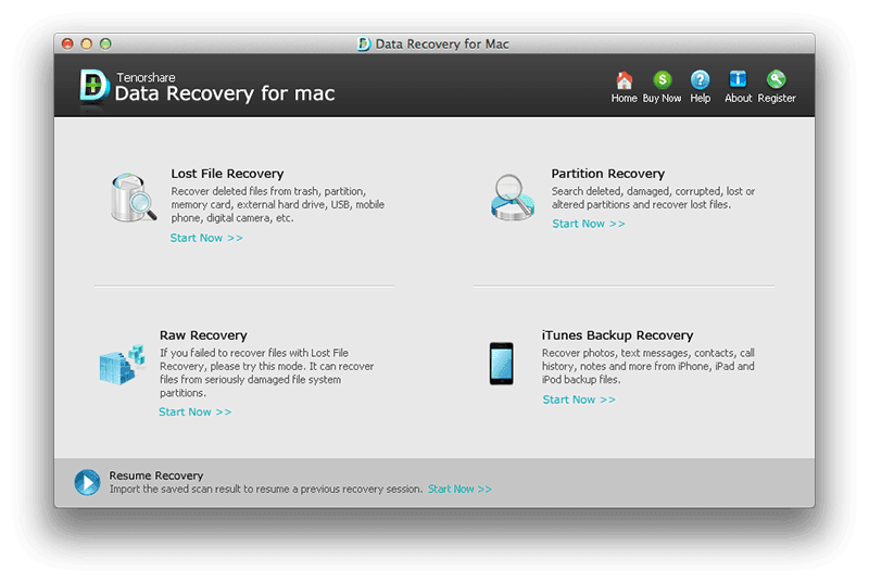 Tenorshare Any Data Recovery for Mac full screenshot