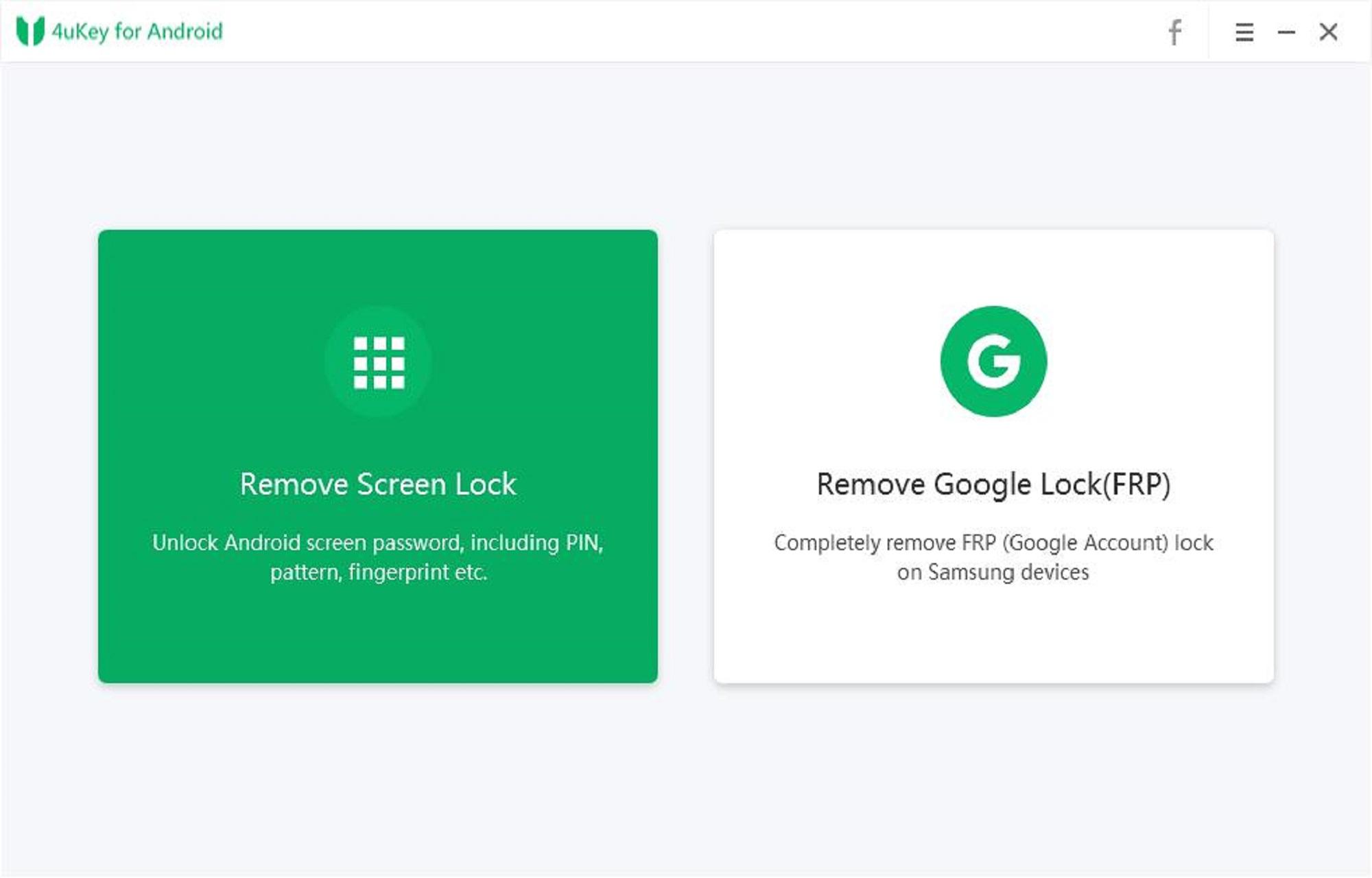 Android için Ekran Kilidini Kaldır 4uKey Özelliğini Seçin