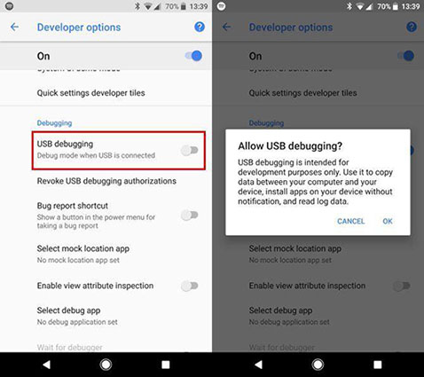 How to Enable USB Debugging on Android 7