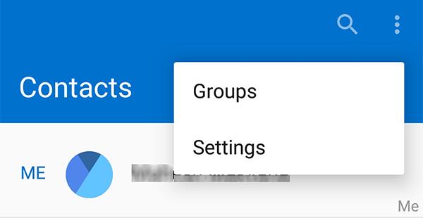 جهات اتصال android مفقودة بعد التحديث