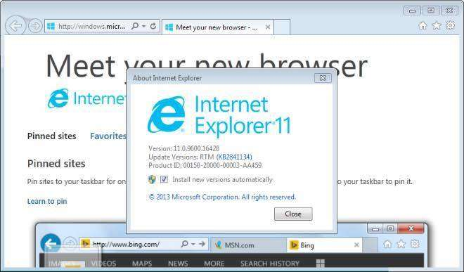 How to downgrade internet explorer in windows 7