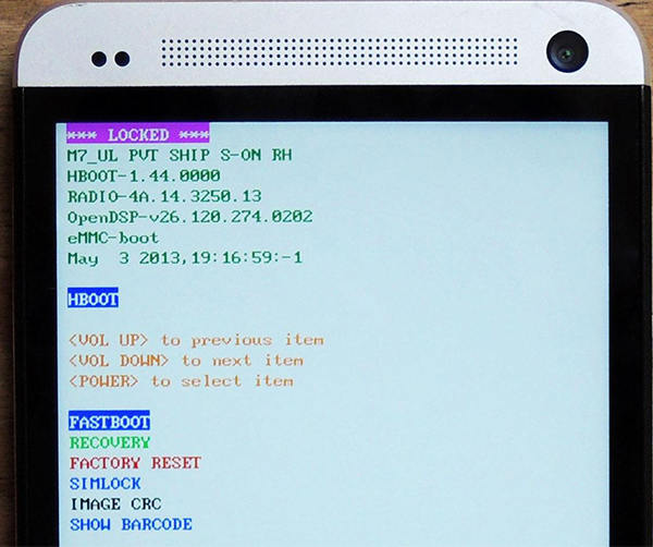 Can ENTER Recovery mode HTC One - Vugokyt