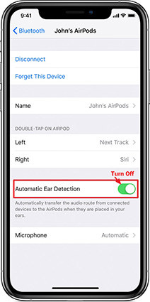 Turn Off Automatic Ear Detection in AirPods