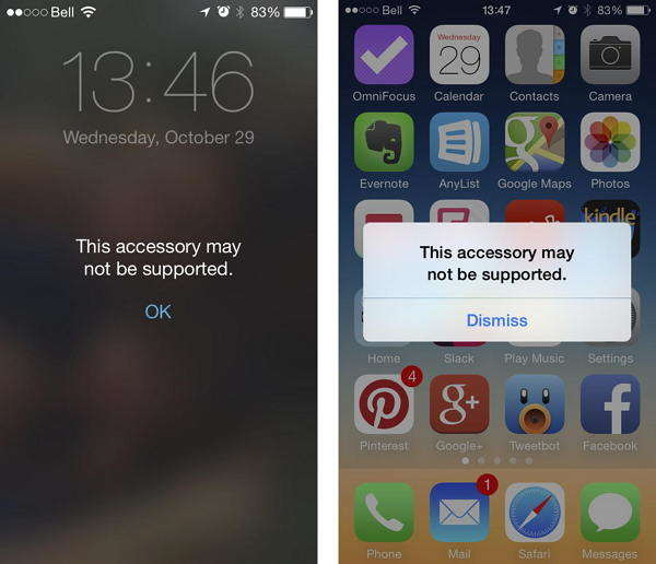 Top 2 Ways to Fix This Accessory May Not Be Supported on iOS