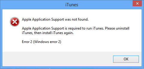 itunes apple application support error - Installation Of Apple Application Support Did Not Complete Successfully