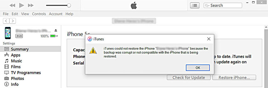 Best Tool to Fix iTunes Backup Corrupt when Restore Data