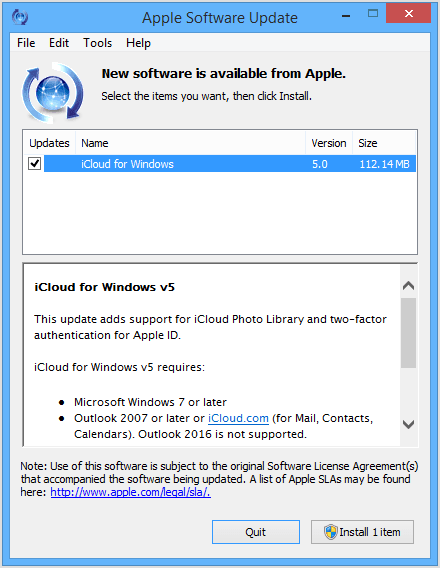 download icloud para windows xp