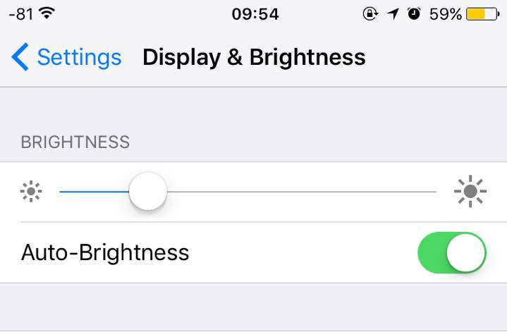 how to turn off auto brightness ios 11.1
