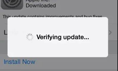 iphone update stuck on verifying