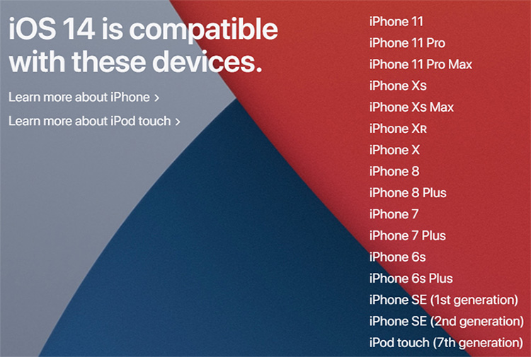 ios 14 compatible with devices